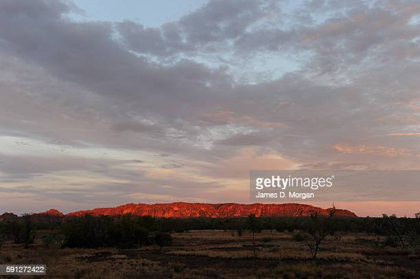 Sunset over Bungle Bungles in Purnululu National Park on August 11th 2016 in Western Australia