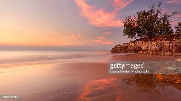 Sunset over Casuarina Beach
