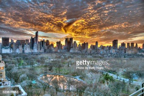 Sunset over Central Park