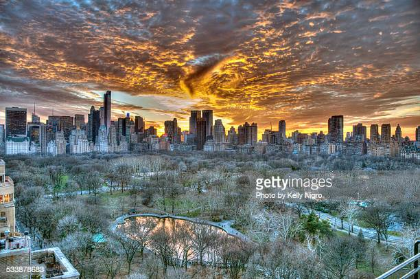 Sunset over Central Park
