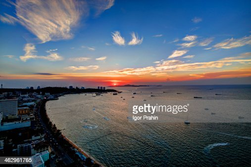 Sunset over Central Pattaya / Thailand