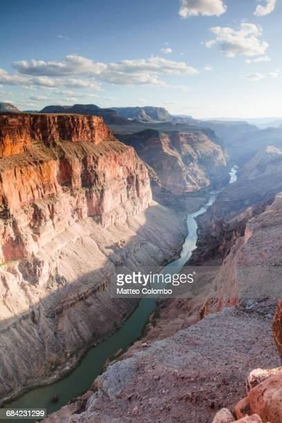 Sunset over Colorado river, Grand Canyon, USA