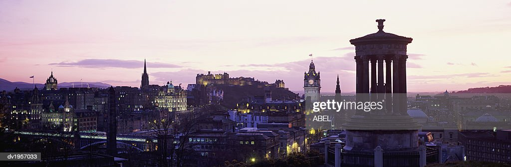 Sunset over Edinburgh, Scotland, UK : Stock Photo