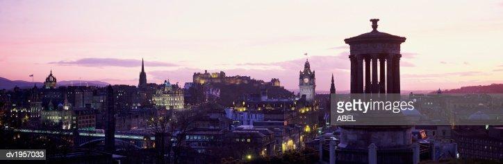 Sunset over Edinburgh, Scotland, UK : ストックフォト