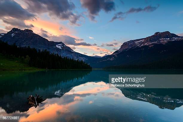 Sunset over Emerald Lake, Yoho National Park
