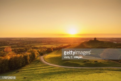 Sunset over English Countryside
