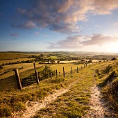 This is the view south from Eggardon Hill in Dorset.