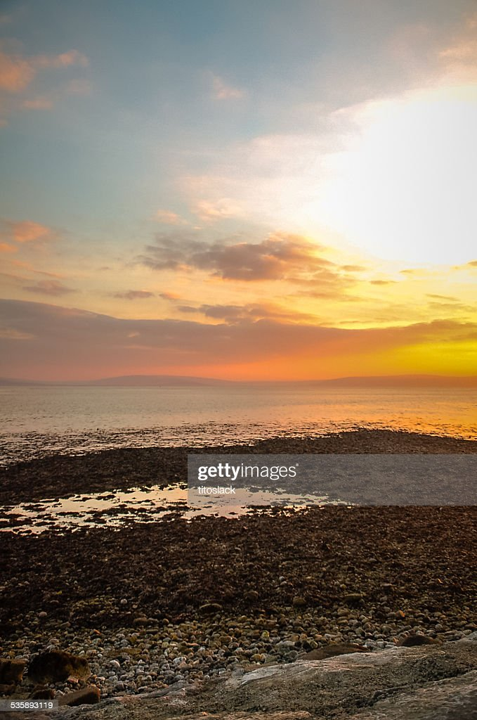 Sunset over Galway Bay, Ireland : Stock Photo