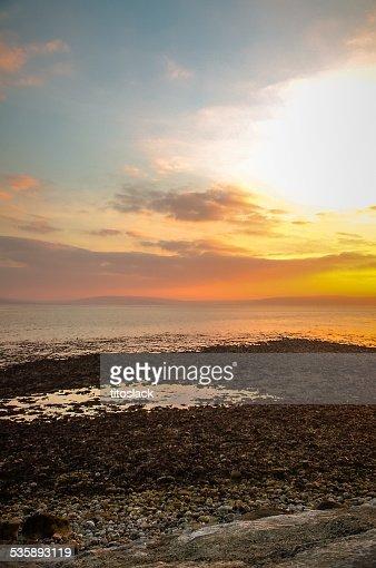 Sunset over Galway Bay, Ireland : Stock Photo