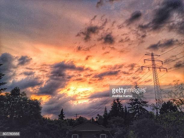 Sunset over Hamburg
