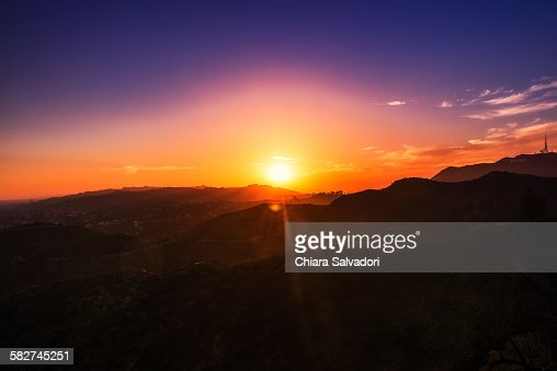 Sunset over Hollywood from Griffith Observatory