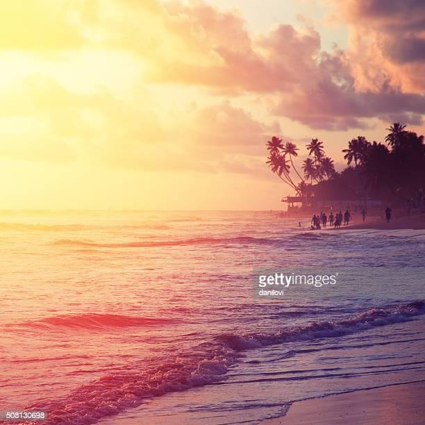 Sonnenuntergang über dem Indischen Ozean