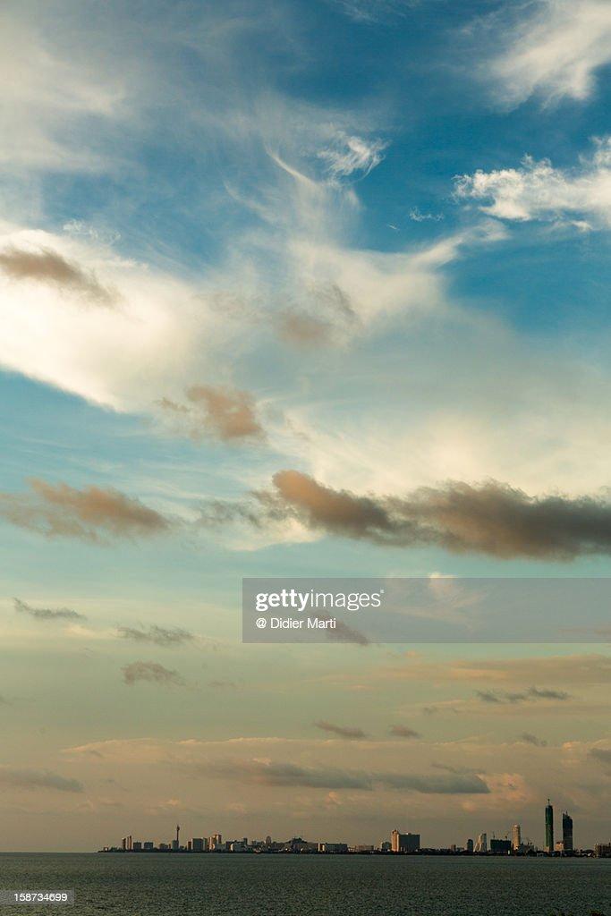 Sunset over Jomtien/Pattaya : Stock Photo