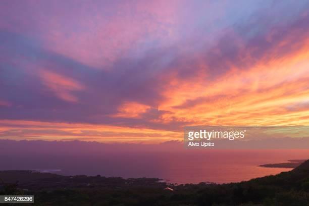 Sunset over Kealakekua Bay Hawaii