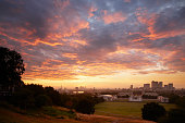 Sunset over London, Greenwich Park, London