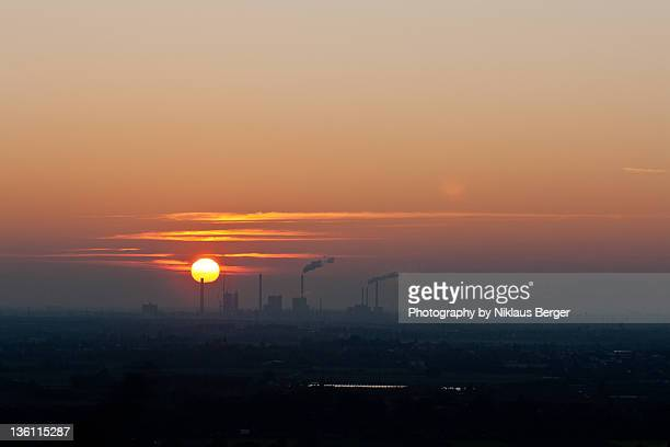 Sunset over Ludwigshafen