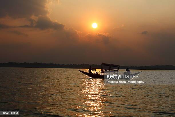 Sunset over Maithon lake