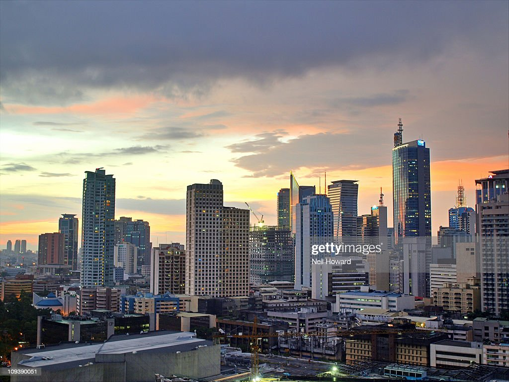 Sunset Over  Makati City, Manila