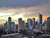 Sunset Over  Makati City, Manila