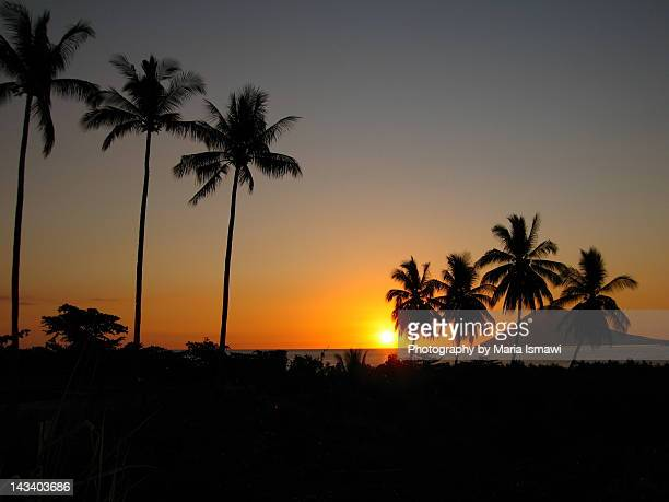 Sunset over manado tua mountain