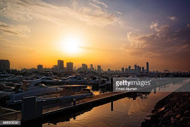 Sunset over Marina Crescent, Salmiya, Kuwait