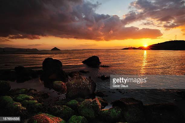 Sunset over Naoshima, Japan