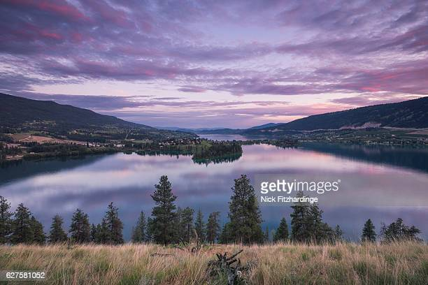 Sunset over Oyama and Kalamalka Lake, Lake Contry, British Columbia, Canada