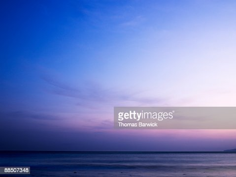 Sunset over Pacific Ocean : Stock Photo