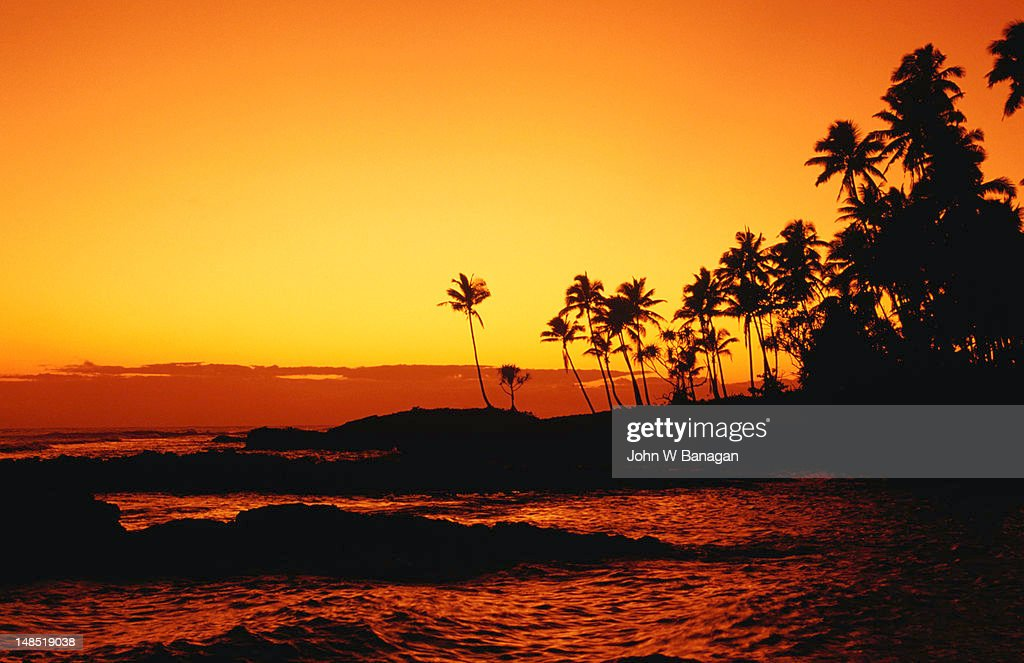 Sunset over Paradise Beach. : Stock Photo