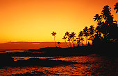 Sunset over Paradise Beach.