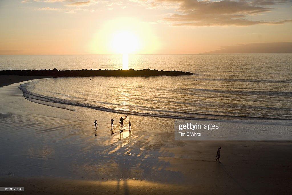 Sunset over Playa de las Americas, Tenerife, Canary Islands, Spain
