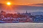 Sunset over Quebec City