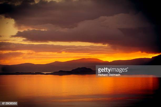 Sunset over Raasay and The Isle of Skye, Scotland