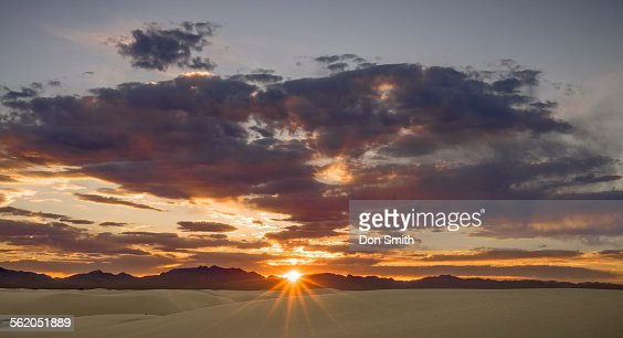 Sunset Over San Andreas Mountains