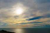 Sunset Over The Sea, Isle of Portland, UK.