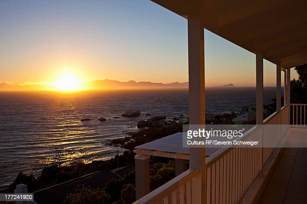 Sunset over sea, Simonstown, Western Cape, South Africa
