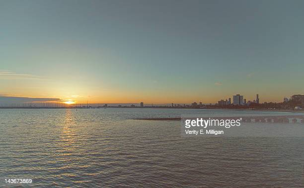 Sunset over St. Kilda