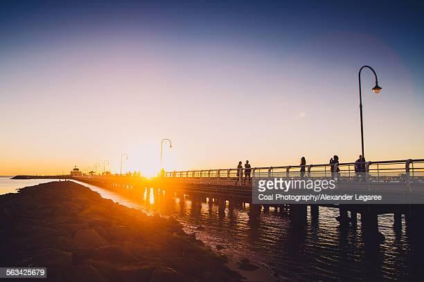 Sunset Over St Kilda Pier