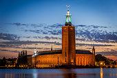 Sunset over Stockholm City Hall