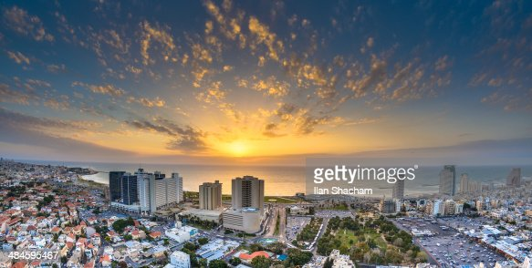 Sunset over Tel-Aviv Beach