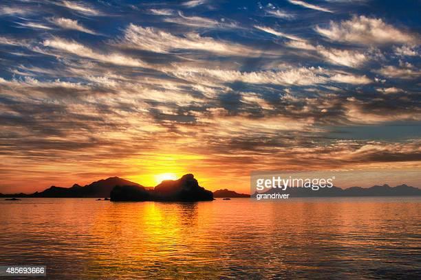 Sonnenuntergang über der Baja