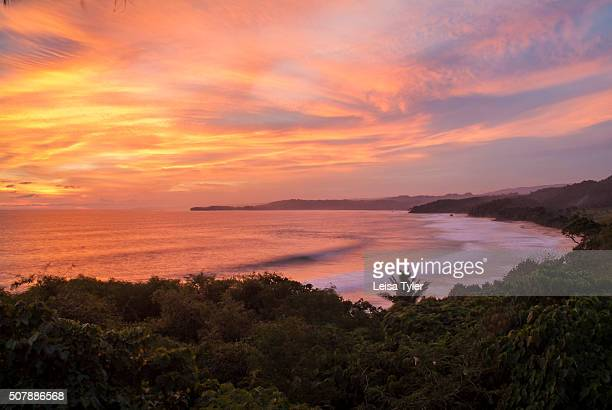 Sunset over the beach at Nihiwatu a resort on Sumba in Indonesia