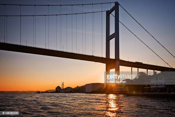Sunset over the Bosphorus Bridge, Istanbul, Turkey