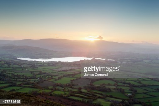 Sunset over the Brecon Beacons