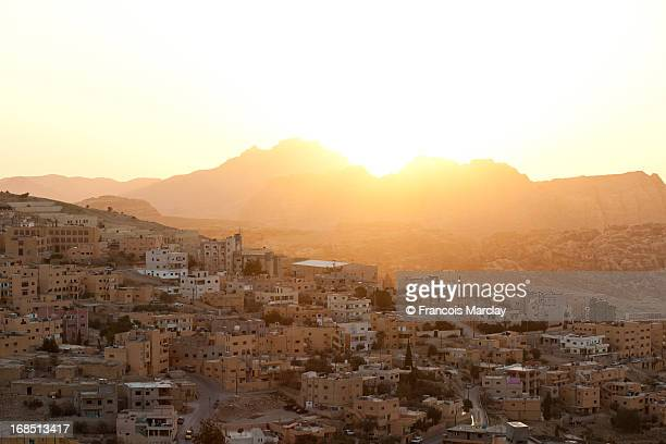 Sunset over the hills of Wadi Musa