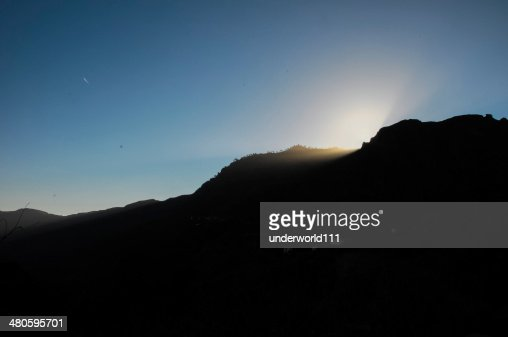 Sunset over the Mountains : Stock Photo
