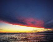 Sunset over the ocean, Hawaii, USA