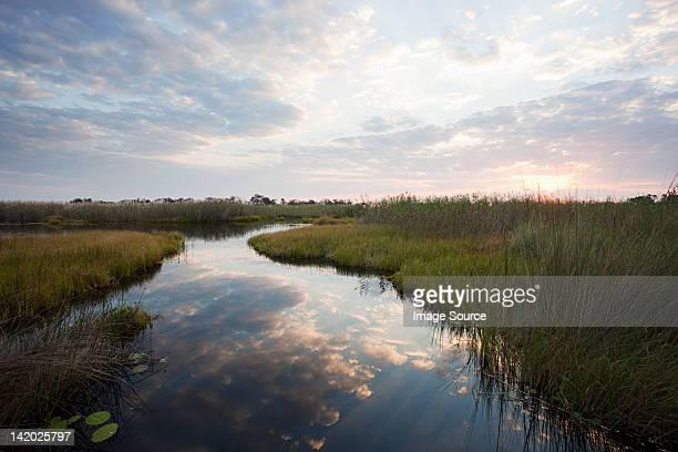 Sunset over the Okavango Delta, Botswana