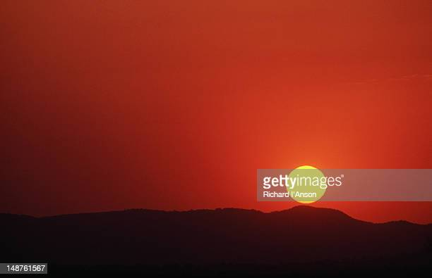 Sunset over the private Mkhaya Game Reserve, a reserve on rehabilitated cattle farms