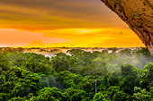 View on sunset over the rainforest in Brazil